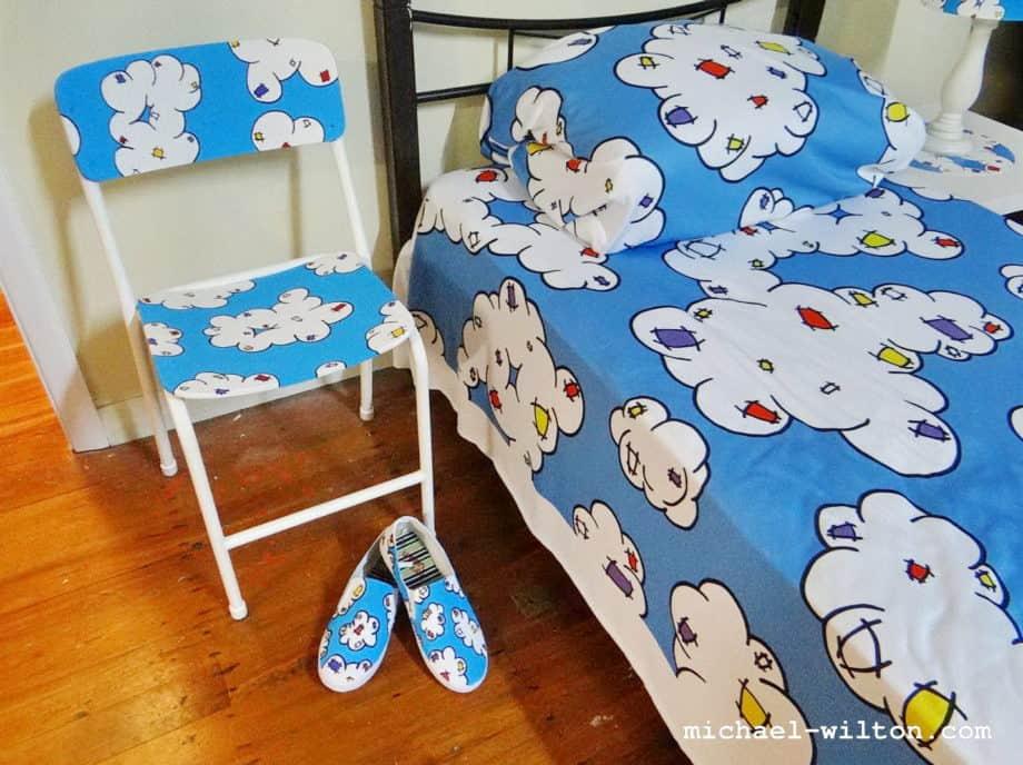 cloud bedspread chair